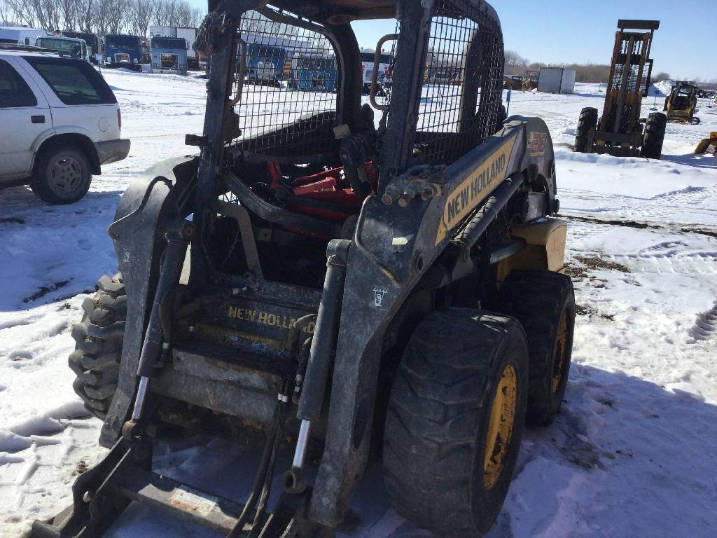 2011 New Holland L218 Skid Steer Loader Being Dismantled