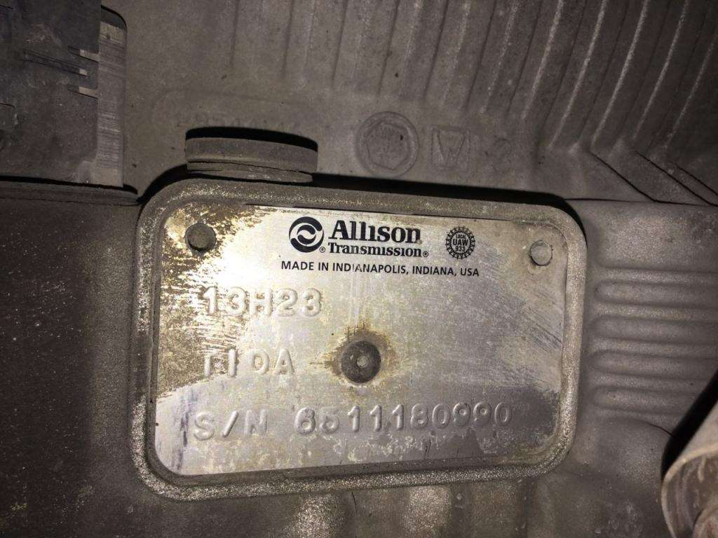 2014 Allison 3000 Hs Transmission For A Kenworth T270 For