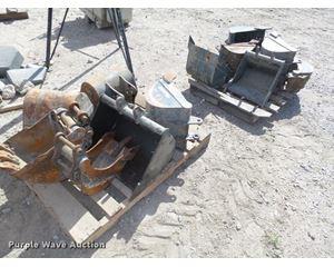 (2) excavator buckets