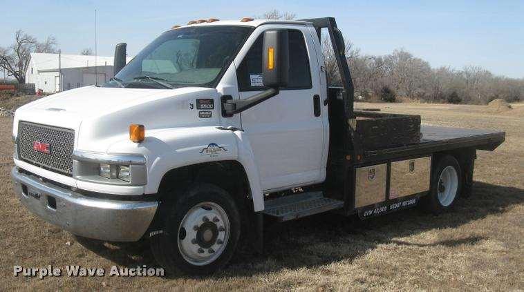 2004 gmc c5500 flatbed truck for sale 74 167 miles. Black Bedroom Furniture Sets. Home Design Ideas