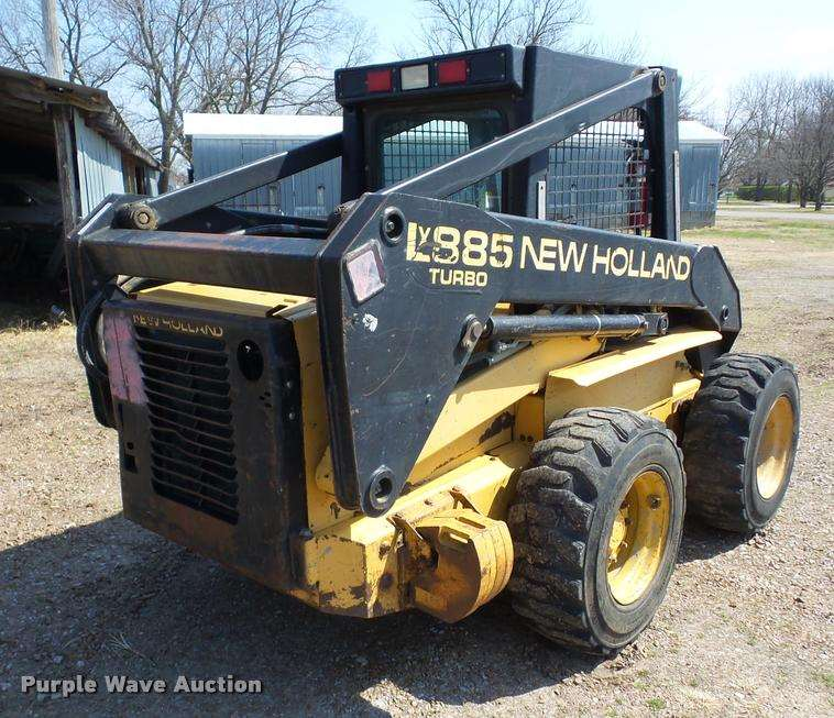 Used New Holland Lx885 Turbo: 1999 New Holland LX885 Skid Steer For Sale, 5,134 Hours