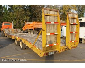 1996 Trail Boss lowboy equipment trailer