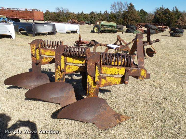 three bottom plows