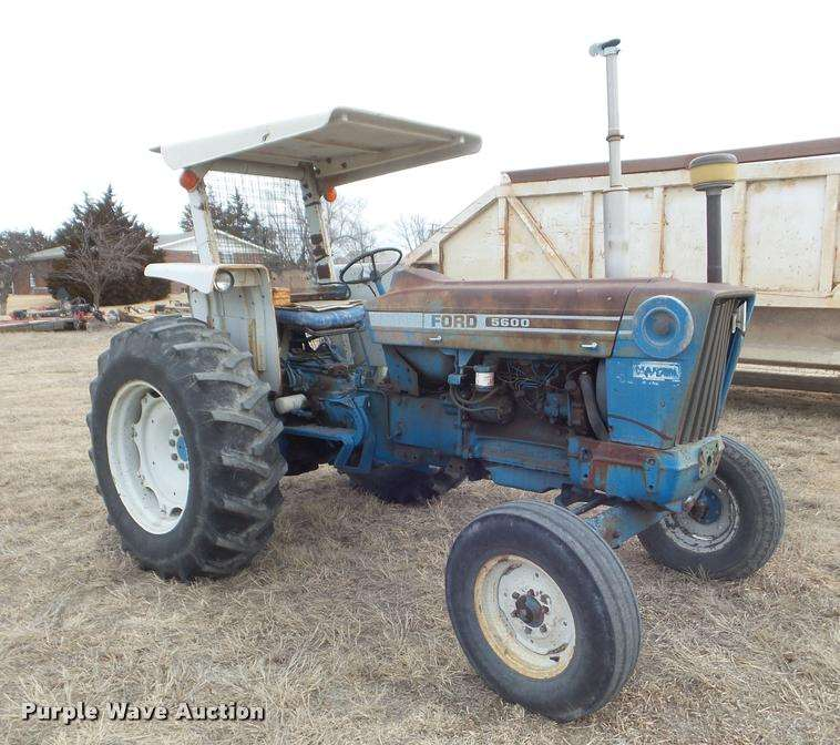 Ford 5600 Tractor : Ford tractor for sale hours phillipsburg ks