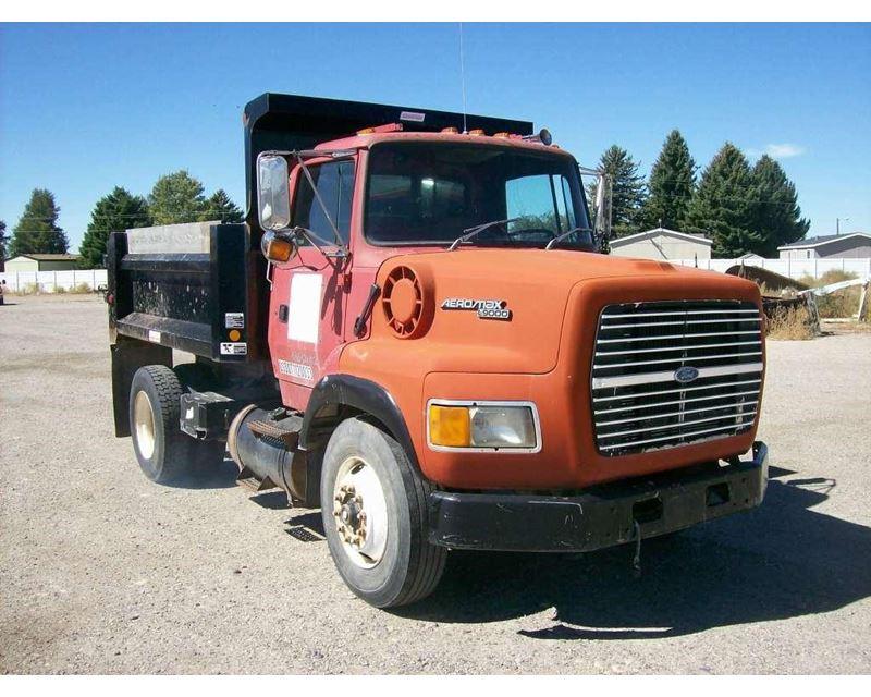 1992 ford l9000 heavy duty dump truck for sale idaho falls id. Black Bedroom Furniture Sets. Home Design Ideas