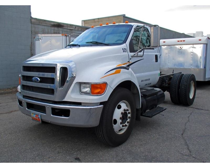 2008 ford f 750 medium duty cab chassis truck for sale. Black Bedroom Furniture Sets. Home Design Ideas