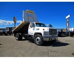 Ford F-600 Flatbed Dump Truck