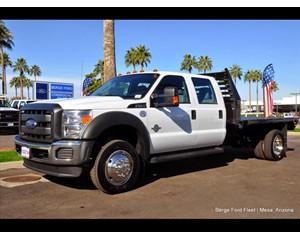 Ford F-550 Crew Cab 4X2 Flatbed Truck