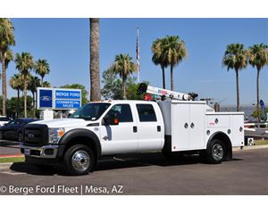 Ford F-550 Crew Cab 4X4 Mechanics Crane Body