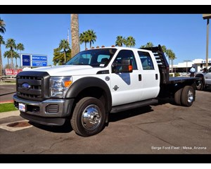 Ford F-550 Crew Cab 4X4 Flatbed Truck