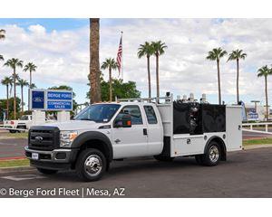 2016 Ford F-550 Super Cab 4X4 Fuel / Lube Service Body