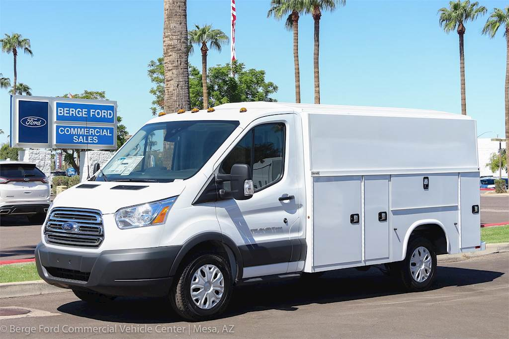 2018 Ford Transit Service Van With Knapheide Kuv Low Roof Enclosed