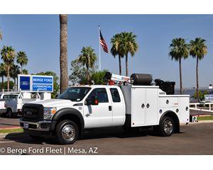 2016 Ford F-550 Super Cab 4X4 Mechanics Crane and Lube Body