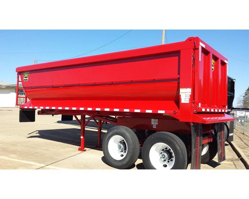 2017 Hilbilt 22 Quarter Frame Dump End Dump Semi Trailer