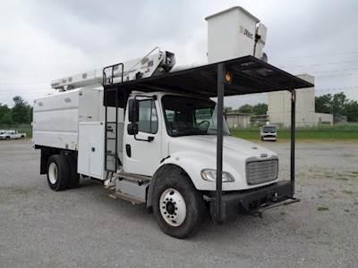 2013 Freightliner M2 106 Single Axle Boom / Bucket Truck - Automatic, ALTEC  LR758 FM Aerial Lift