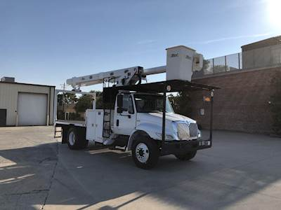 2012 International 4300 Single Axle Boom / Bucket Truck - M Drive, ALTEC  LRV56 Aerial Lift