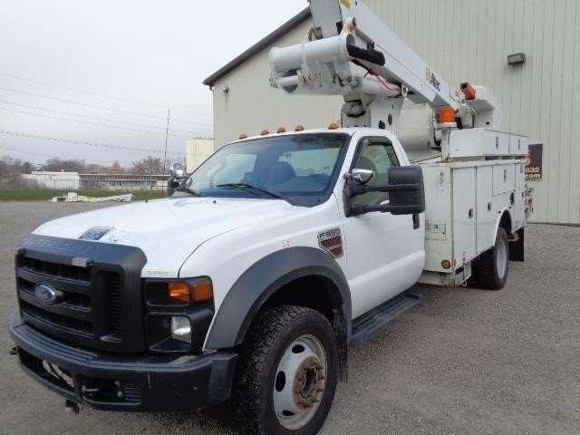 2010 ford f 550 bucket boom truck for sale 152 698 miles fort wayne in 46744775. Black Bedroom Furniture Sets. Home Design Ideas