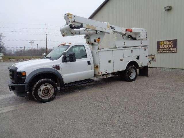 2010 ford f 550 bucket boom truck for sale 130 290 miles fort wayne in 47346323. Black Bedroom Furniture Sets. Home Design Ideas