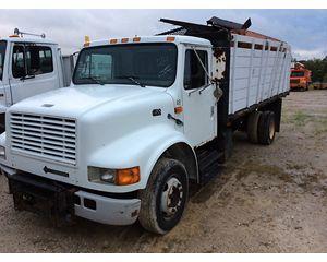 International 4700 Flatbed Dump Truck