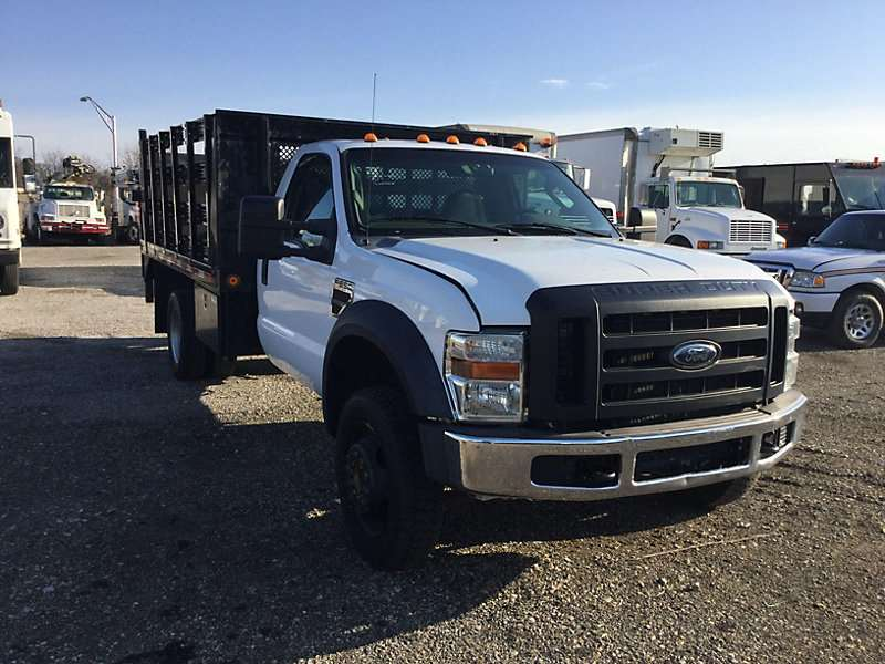 2009 Ford F 550 Flatbed Truck For Sale 73 689 Miles