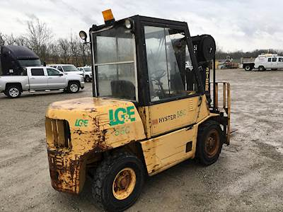 1988 Hyster H80XL 8,000# Mast Forklift For Sale, 6,591 Hours