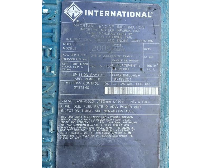 2006 international dt466e engine for sale 63 000 miles for Barbara motors inc hialeah fl