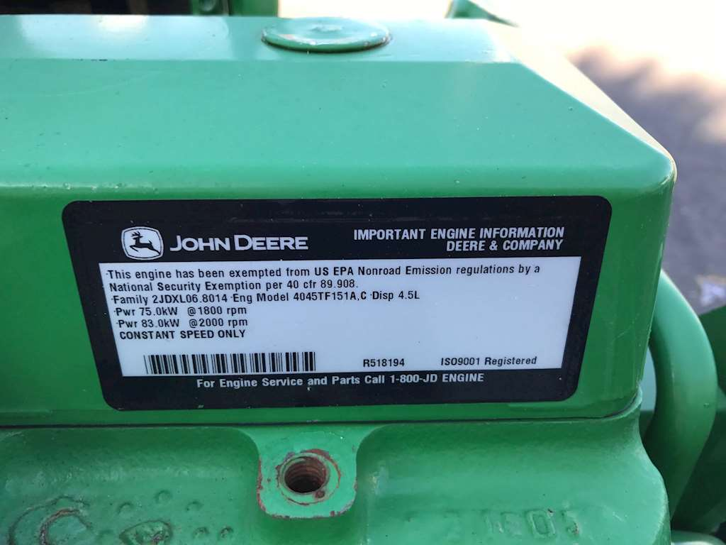 2002 John Deere 4045tf151a Engine For Sale Hialeah Fl