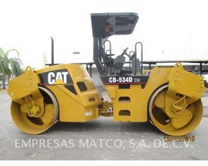 Caterpillar CB-534DXW Smooth Drum Compactor