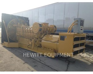 Caterpillar 3516, SKID 1600KW 4.16KV Generator Set