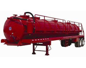 Dragon 130BBL Vacuum Trailer Air Ride Vacuum Tank Trailer