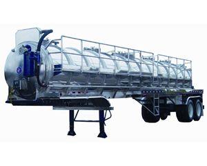 Dragon Aluminum 150BBL Vacuum Trailer Vacuum Tank Trailer