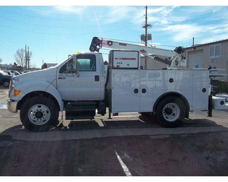 Imt Service Truck Bumper Step : Ford f imt crane mechanic truck for sale fort