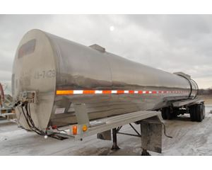 Heil 5000 GAL., 1 COMPT., 2-AXLE SEMI TANK Chemical / Acid Tank Trailer