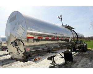 Polar 6500 GAL., 1 COMPT., 2-AXLE SEMI TANK TRAILER Chemical / Acid Tank Trailer