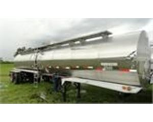 Heil 6500 GAL., 1 COMPT., 2 AXLE STAINLESS INSULATED SEMI TANK TRAILER General Tank Trailer