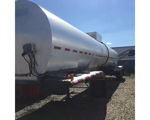 Polar 5500 GAL., 1 COMPT., INSULATED ALUMINUM 2-AXLE SEMI TANK TRAILER Waste / Sludge Tank Trailer