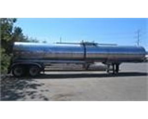 Brenner 7000 GAL., 1 COMPT., 2 AXLE STAINLESS INSULATED SEMI TANK TRAILER Water Tank Trailer