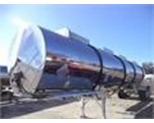Polar 7200 GAL., 4-COMPT., 2 AXLE SEMI TANK Water Tank Trailer