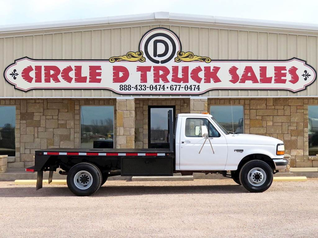 1996 Ford F-350 Single Axle Flatbed Truck, Powerstroke 7 3L
