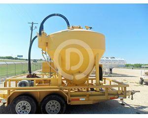 Custom Built SINGLE 330 CU POD SKID UNIT Oil Field Trailer