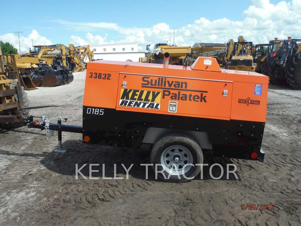 2016 sullivan d185p dz air compressor for sale 1 hours miami fl