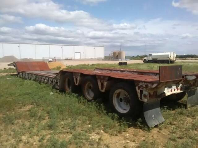 1996 Load King 50 Ton Double Drop Trailer Tri Axle Mechanical Rgn