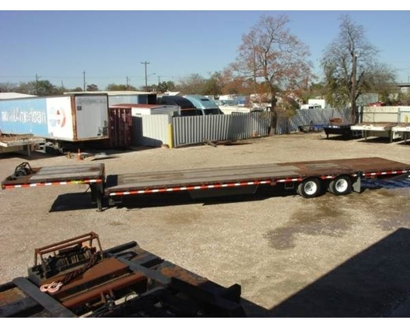 2008 Ledwell Drop Deck Trailer 48x102 Combo Closed Axle
