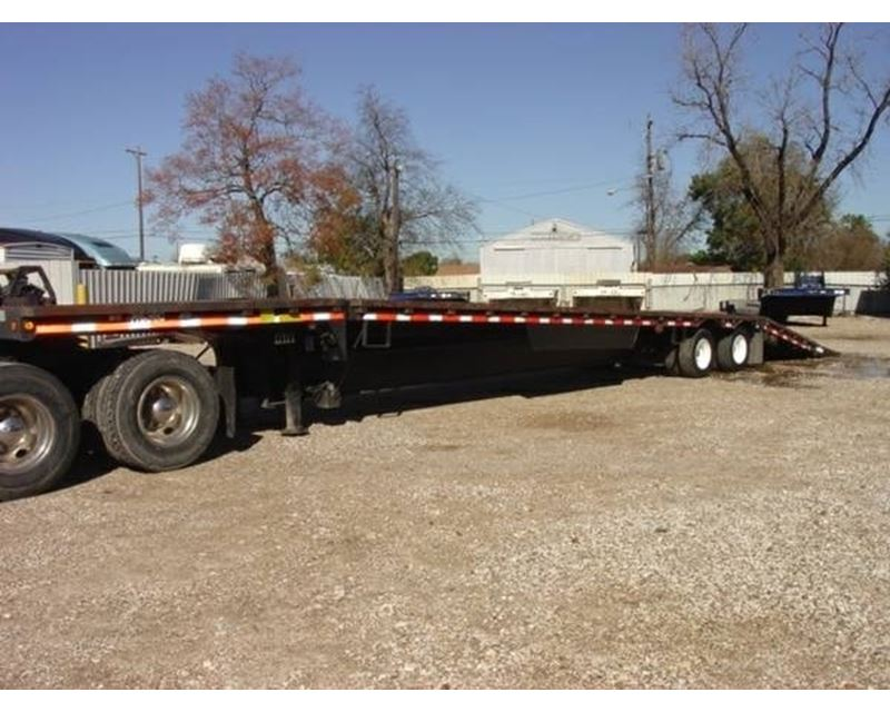 Hydraulic Lowering Trailers : Ledwell drop deck trailer combo closed axle