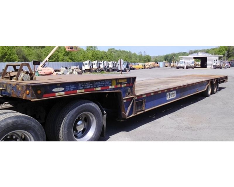 Hydraulic Lowering Trailers : Ledwell drop deck trailer hydraulic tail for