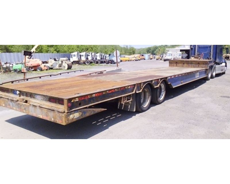 2008 Ledwell Drop Deck Trailer 48x102 Hydraulic Tail For