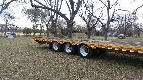 Hydraulic Lowering Trailers : Ledwell drop deck trailer tri axle hydraulic