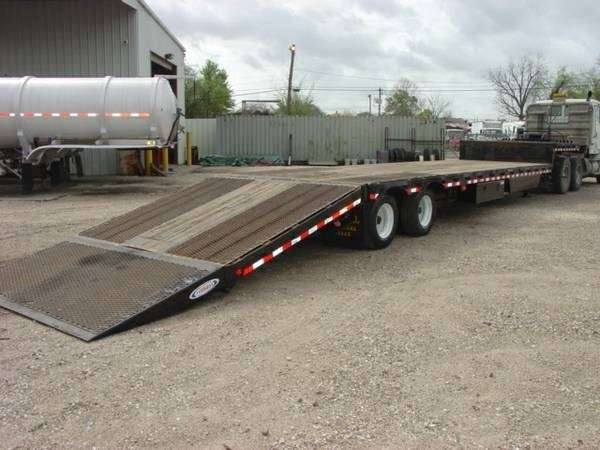 Hydraulic Lowering Trailers : Ledwell drop deck trailer closed axle