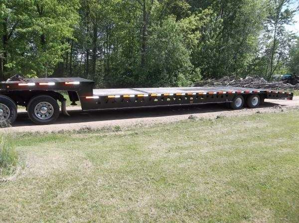 Hydraulic Drop Deck Trailers : Trail king drop deck trailer hydraulic