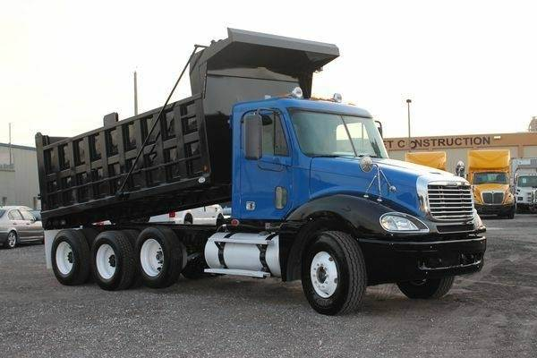 2007 freightliner columbia used tri axle dump truck detroit 60 series 455hp for sale. Black Bedroom Furniture Sets. Home Design Ideas